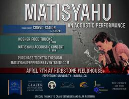 Matisyahu Acoustic Performance: PURCHASE TICKETS AT...