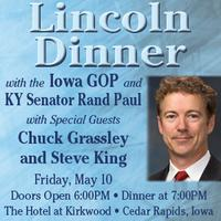 Rand Paul at the Iowa GOP's Lincoln Day Dinner - Event...