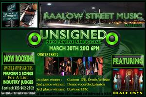 Raalow Street Music UNSIGN NEW ARTIST SHOWCASE