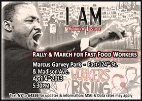 Rally for Worker Justice with Fast Food Workers