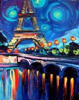 Two-Hour Painting Class + Wine (Night in Paris)