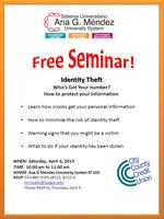 Cancelled, Free Seminar : Identity Theft
