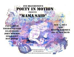 Eve Brandstein's Poetry in Motion: Mama Said