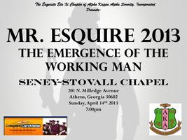 Mr. Esquire 2013 Scholarship Pageant