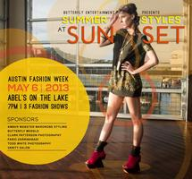 Summer Styles at Sunset, an Austin Fashion Week event...
