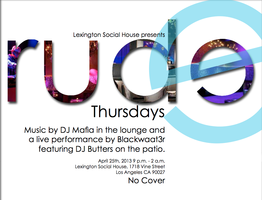 Lexington Social House Presents Rude Thursdays