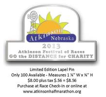 Limited Edition 2013 Atkinson Festival of Races Lapel...