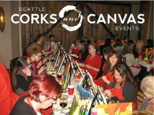 Corks and Canvas Events logo