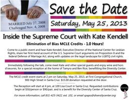 SPECIAL MAY 25 PRIVATE RECEPTION WITH KATE KENDELL