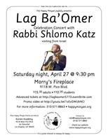 Lag BaOmer Celebration  with Rabbi Shlomo Katz