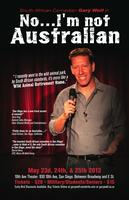 'No, I'm not Australian.' World Comedy Show, Memorial Day...