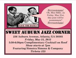 Sweet Auburn Jazz Corner Presents...