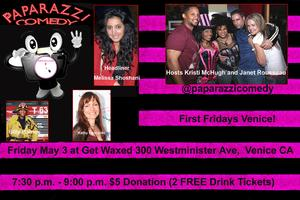 Tonight! Paparazzi Comedy First Fridays In Venice May 3