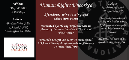 Human Rights Uncorked: A Tasting and Fundraiser