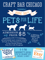 Etsy Craft Party: Chicago, IL - Pets for Life!