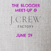 Blogger Fashion Night Out @ J.Crew Factory