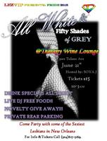 New Orleans Pride ALL WHITE and FIFTY SHADES of GREY