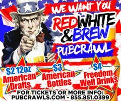 Red, White and Brew PubCrawl Houston