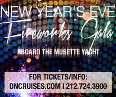 New Year's Eve Fireworks Gala aboard the Musette Yacht