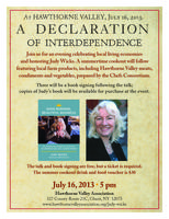 Declaration of Interdependence with Judy Wicks