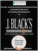 Monthly Happy Hour at J. Black's