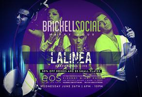 Lalinea performing live @ Brickell Social Happy Hour /...