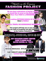 MODELS ON THE RUNWAY FASHION PROJECT