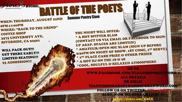 "Floasis presents...""BATTLE OF THE POETS"" Summer Poetry..."