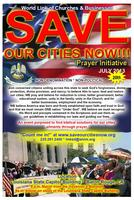 "World Link of Churches & Businesses, ""Save Our Cities..."