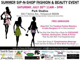 Summer Sip-n-Shop Fashion and Beauty Event