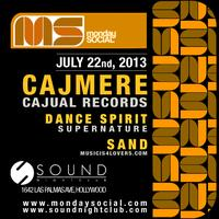 Cajmere aka Green Velvet Monday 7/22 at Sound FREE...