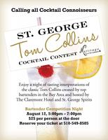 St. George Tom Collins Cocktail Contest