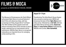 MOCA Shaker Optic Nerve Film Screening & Art Talk