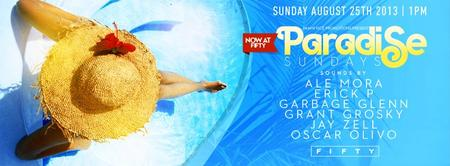 Paradise pool party at FIFTY... Miami's only exclusive...