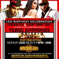 Verse Simmonds With Jevon Vawn Sims Celebrity Birthday...