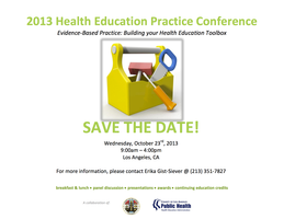 3rd Annual Public Health Education Practice Conference