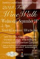 Downtown Campbell Fall Wine Walk (9/18/13)