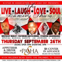 "LIVE LAUGH LOVE SOUL COMEDY SHOW PRESENTS: ""SHAWN..."