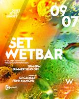 SET at WET Summer Send off Pool Party