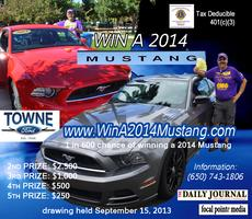 Have a Blast.  Win 2014 Ford Mustang.   Rev Up Your...