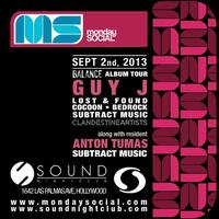 #Guy J at Sound September 2nd FREE b4 11pm on the...