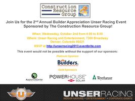 2nd Annual Builder Appreciation Unser Racing Event