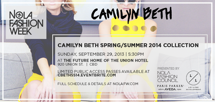 Camilyn Beth S/S '14 Collection at NOLAFW