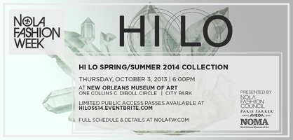 Emerging Designer: Hi Lo S/S '14 Collection at NOLAFW
