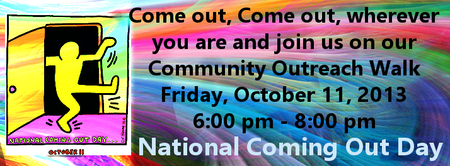 National Coming Out Day Community Outreach Walk