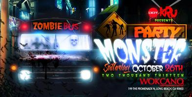 Wokcano Long Beach Pre-Halloween Party Monster