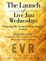 Free Live Jazz Wednesdays at EVR