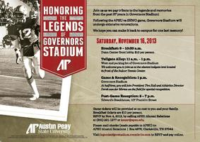 Honoring the Legends of Governors Stadium