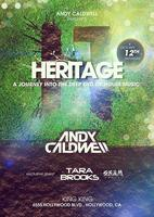 10/12 HERITAGE w / ANDY CALDWELL, TARA BROOKS and...
