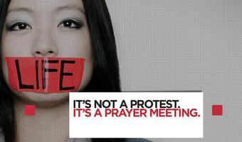 Pro-Life 'Silent Siege' Prayer Meeting